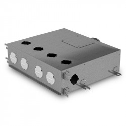 Cutie de distribuție metalică pentru conectarea sistemului Flexitech Ø 63 mm cu 6 ieșiri