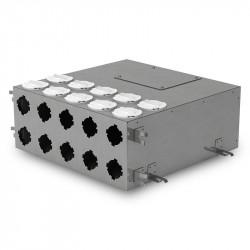 Cutie de distribuție metalică pentru conectarea sistemului Flexitech Ø 63 mm cu 10 ieșiri