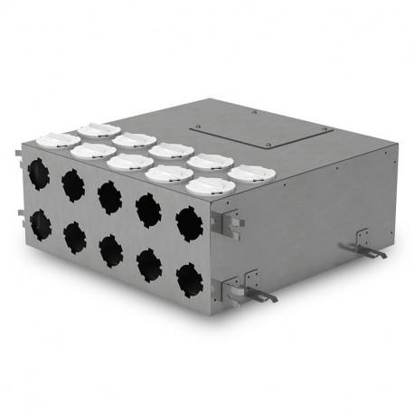 Cutie de distribuție metalică pentru conectarea sistemului Flexitech Ø 75 mm cu 10 ieșiri