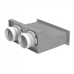 Cutie de difuzie metalică în perete pentru tuburi Dalap Flexitech Ø 75 mm