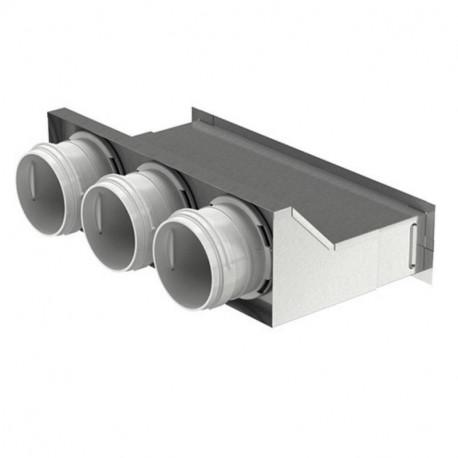 Cutie de difuzie metalică în perete pentru tuburi Dalap Flexitech Ø 63 mm