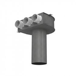 Cutie de difuzie metalică în tavan pentru tuburi Dalap Flexitech Ø 63 mm