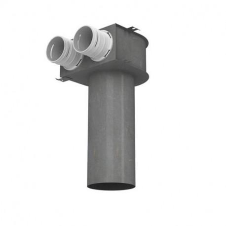 Cutie de difuzie metalică în tavan pentru tuburi Dalap Flexitech Ø 75 mm