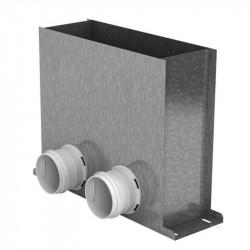 Cutia de difuzie metalică în podea pentru tuburi Dalap Flexitech Ø 75 mm