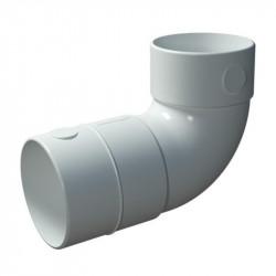 Cot circular PVC de 90° pentru tuburi Dalap Flexitech Ø 75 mm