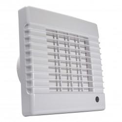 Ventilator de baie cu jaluzele automate fără funcți Ø 100 mm, motor mai puternic