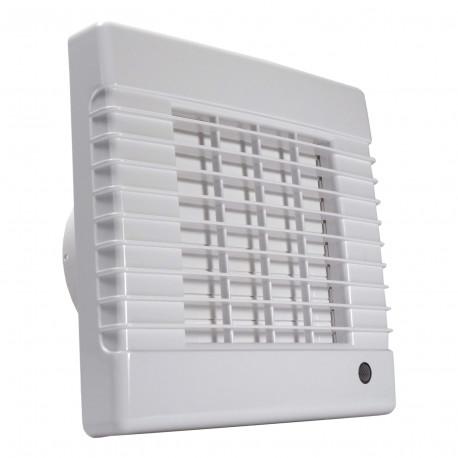 Ventilator de baie cu jaluzele automate fără funcți Ø 125 mm, motor mai puternic
