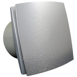 Ventilator de baie cu panou frontal aluminiu fără funcții suplimentare Ø 150 mm, economic și silențios