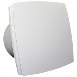 Ventilator de baie cu panou frontal și comutator de timp Ø 150 mm, economic și silențios