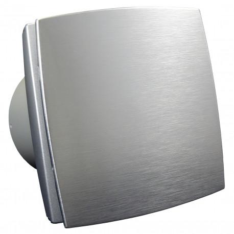Ventilator de baie cu panou frontal aluminiu și comutator de timp Ø 100 mm, motor puternic