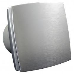 Ventilator de baie cu panou frontal aluminiu și comutator de timp la 12V pentru medii umede Ø 100 mm