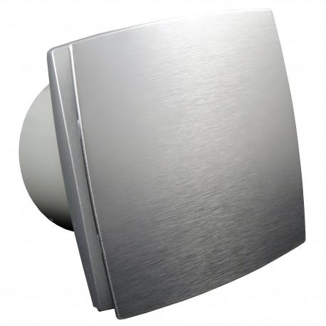 Ventilator de baie cu panou frontal aluminiu și comutator de timp la 12V pentru medii umede Ø 125 mm