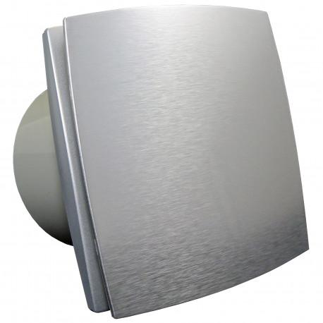 Ventilator de baie cu panou frontal aluminiu și comutator de timp la 12V pentru medii umede Ø 150 mm