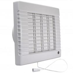 Ventilator de baie cu jaluzele automate, întrerupător fir și comutator de timp Ø 125 mm, economic și silențios