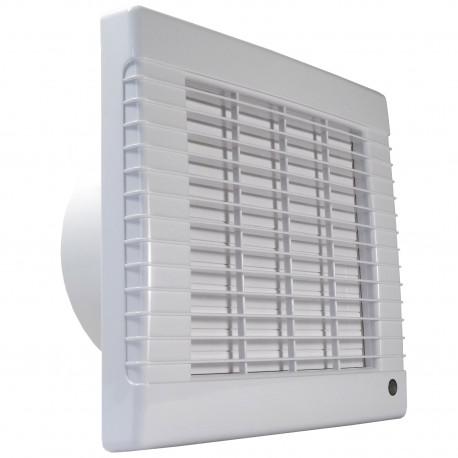 Ventilator de baie cu jaluzele automate, comutator de timp și senzor de umiditate Ø 150 mm, economic și silențios
