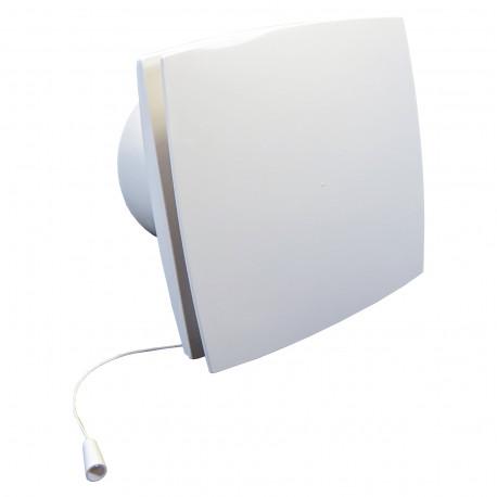 Ventilator de baie cu panou frontal și întrerupător cu fir la 12V în medii umede Ø 125 mm
