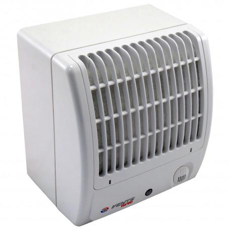 Ventilator de baie cu presiune mai mare, clapetă antiretur și filtru Ø 100 mm, putere mai mare