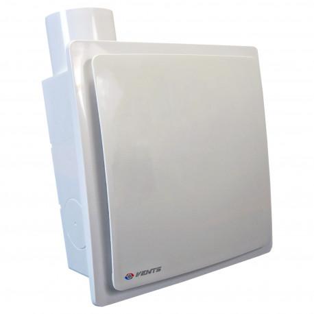 Ventilator de baie cu clapetă antiretur, comutator de timp și presiune mai mare Ø 80 mm, vertical