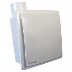 Ventilator de baie cu clapetă antiretur, senzor de umiditate și presiune mai mare Ø 80 mm, vertical