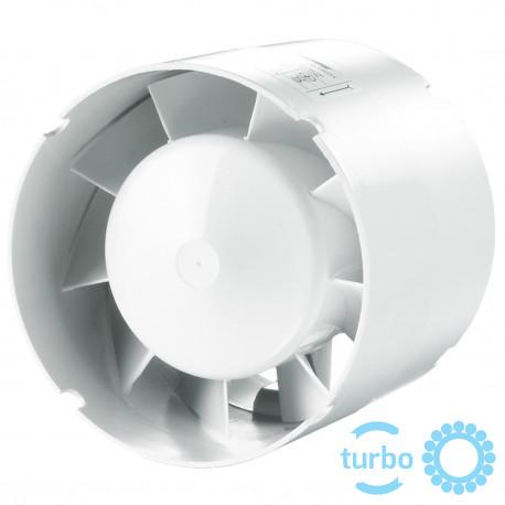 Ventilator mic în conductă cu comutator de timp, putere mai mare și rulmenți cu bile Ø 150 mm