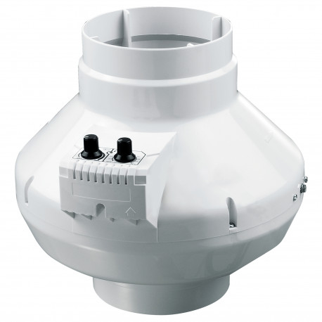 Ventilator de tubulatură radial cu senzor de temperatură și regulator de turație Ø 150 mm