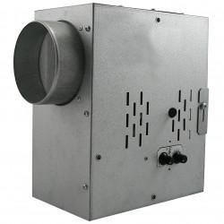 Ventilator de tubulatură silențios cu termostat, regulator de turație și izolație fonică radial Ø 125 mm