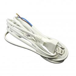 Cablu de alimentare pentru ventilator 2x0,75 mm, lungime 3 m, alb