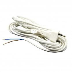 Cablu de alimentare pentru ventilator 2x0,75 mm, lungime 5 m, alb