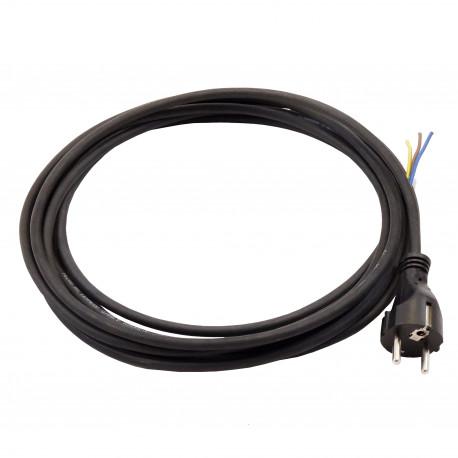 Cablu de alimentare pentru ventilator 3x1 mm, lungime 5 m, negru