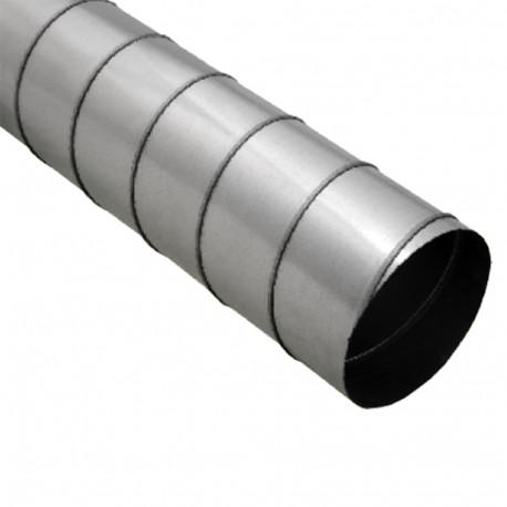 Conductă metalică rigidă Ø 125 mm până la +100 °C, lungime 1000 mm