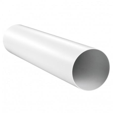 PVC conductă de ventilație circulară Ø 125 mm, lungime 1000 mm
