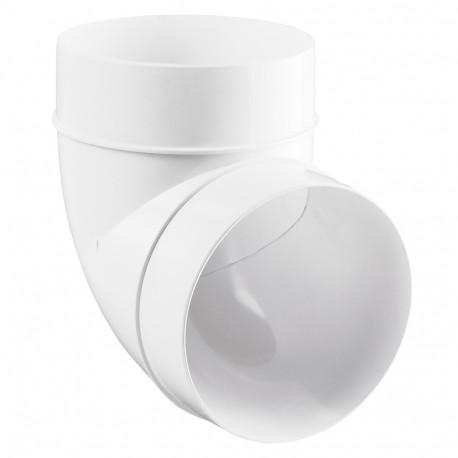 Cot 90° circular plastic Ø 125 mm