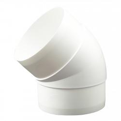 Cot 45° circular plastic Ø 125 mm