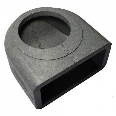 Izolație pvc reducție cot 90° circulară-rectangulară 150 mm / 220x90 mm