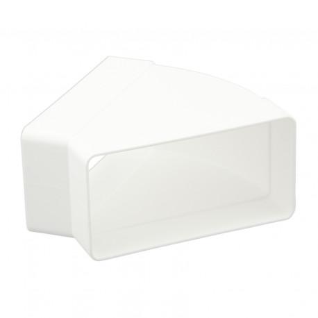 Cot 45° orizontal rectangular plastic 110x55 mm
