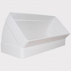 Cot 45° vertical rectangular plastic 220x90 mm