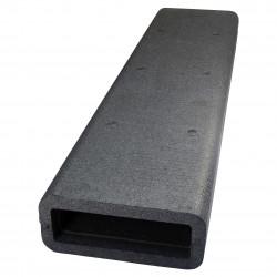Izolație pentru conducte PVC rectangulare 204x60 mm, lungime 1 m