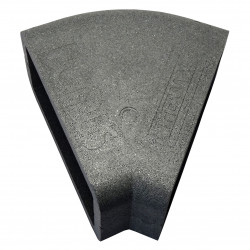 Izolație rectangulară PVC orizontală cot 45°, 204x60 mm