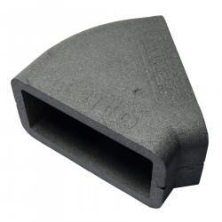 Izolație rectangulară PVC orizontală cot 45°, 220x90 mm
