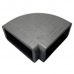 Izolație rectangulară PVC cot 90° orizontală, 220x90 mm