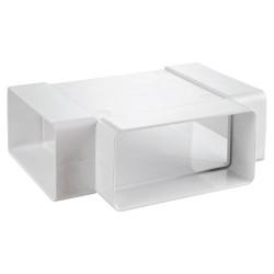 "Ramificație PVC tip ""T"" pentru conducte rectangulare 110x55 mm"