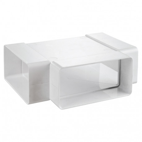 "Ramificație PVC tip ""T"" pentru conducte rectangulare 204x60 mm"