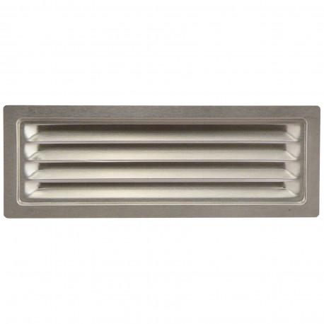 Grila de ventilație din oțel inoxidabil cu jaluzele fixe 204x60 mm
