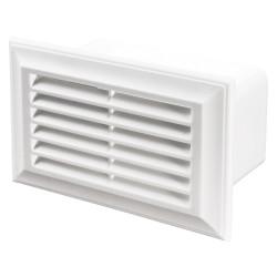 Grilă de ventilație din PVC la tubulatură rectangulară 110x55 mm
