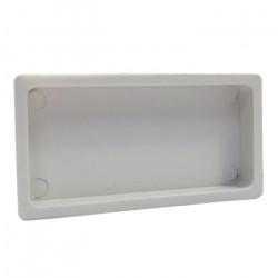 Capac plastic pentru conducte rectangulare 110x55 mm