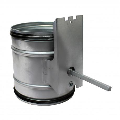 Clapetă antiretur cu suport pentru servomotor Ø 80 mm