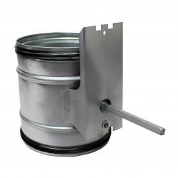 Clapetă antiretur cu suport pentru servomotor Ø 125 mm