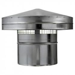 Capac terminal antiploaie pentru capătul conductei de ventilație Ø 125 mm