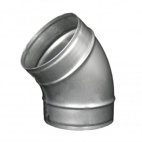 Cot metalic circular 45°, Ø 125 mm
