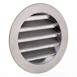 Grila de ventilație metalică Ø 150 mm cu flanșă și plasă anti-insecte